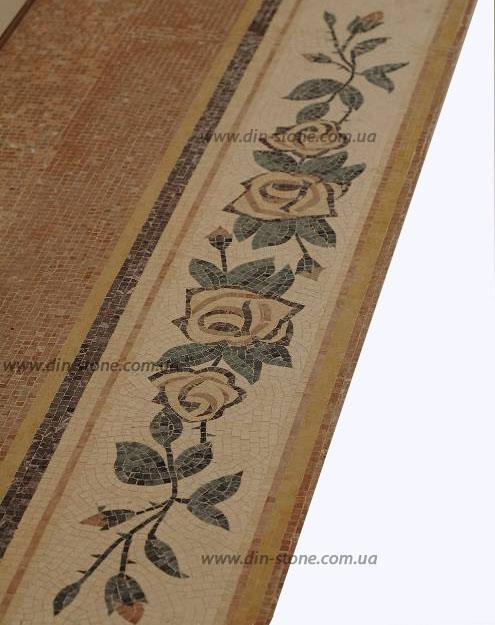 Полы мозаика панно из натурального камня