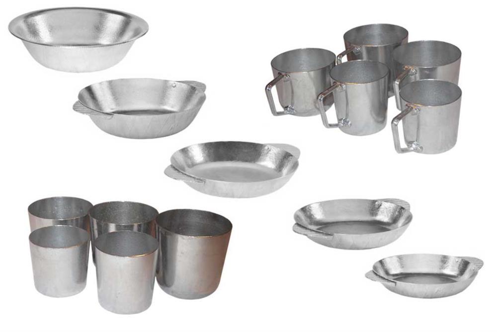 Алюмініві тарілки кухлі та стакани