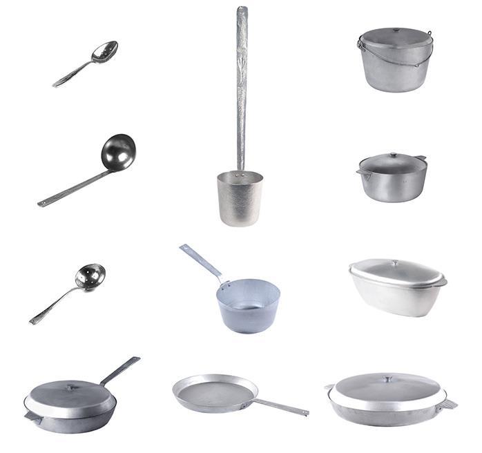 Алюмінівий литий посуд
