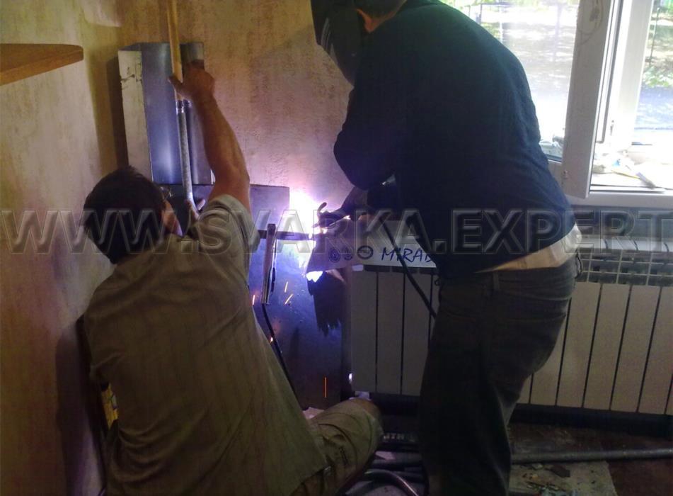 Замена перенос стояков воды и отопления Киев