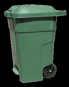 Бак для мусора пластиковый зеленый 70л 70A-1G
