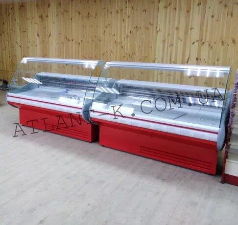 Холодильные витрины JUKA  выкладка 740 мм длина 13 16 19м