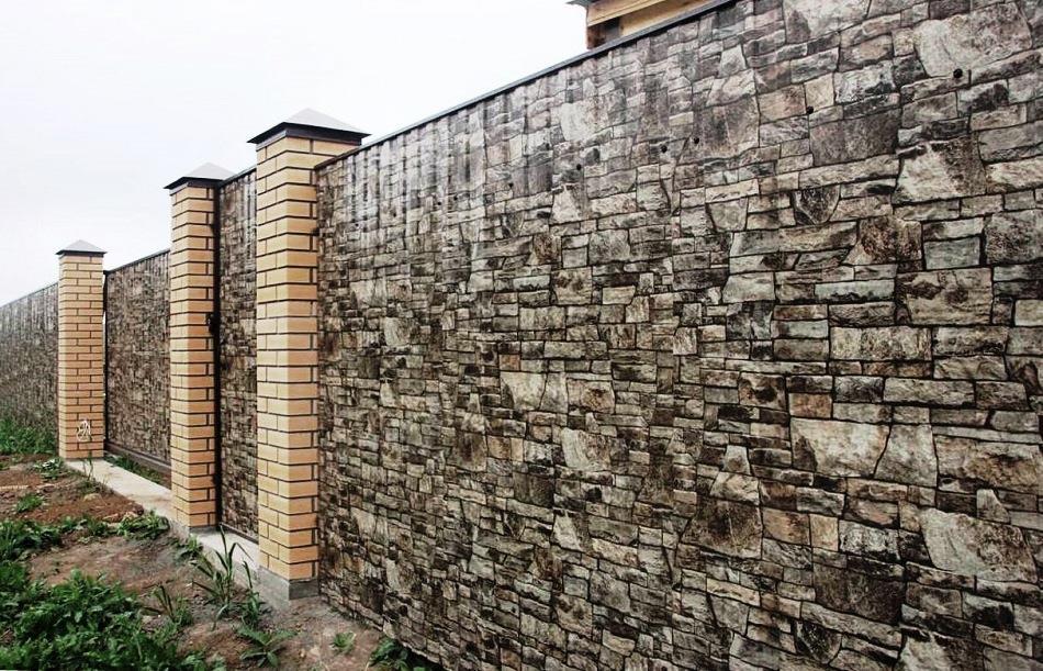 Профнастил стены на забор