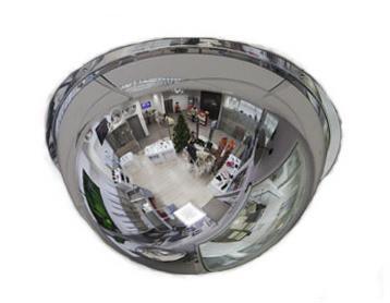 Зеркало купольное Megaplast 800x360 для кругового наблюдения