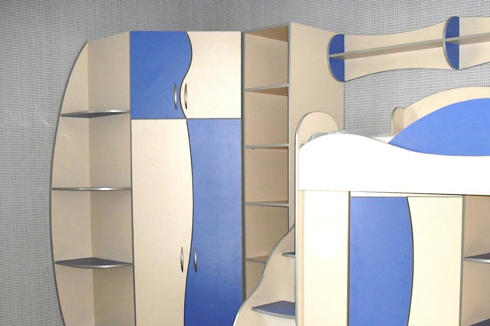 Изготовление детской мебели на заказ - двухъярусная кровать шкаф пенал