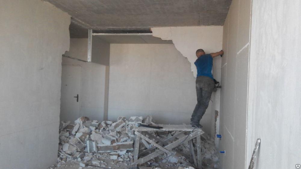 Демонтажные работы Демонтаж квартиры стен перегородок паркета плитки штукатурки гипса кирпича