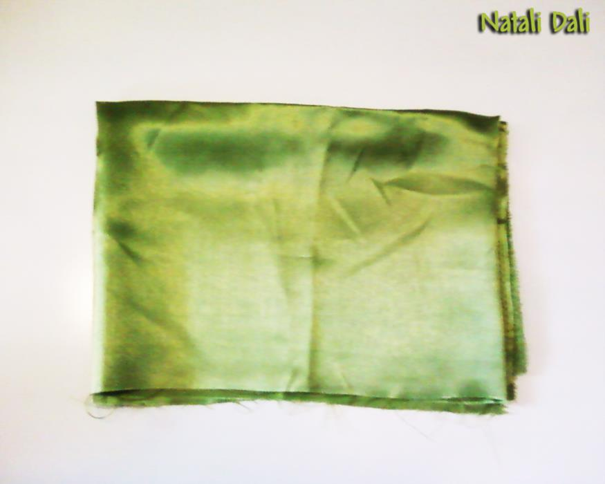 ткань шёлк подкладочная тёмно-салатовая - отрез 50x140 см