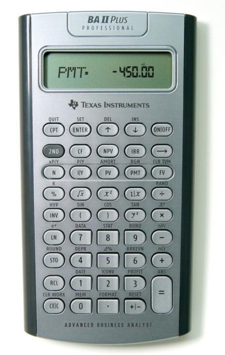 Финансовый калькулятор BA II Plus Professional Pro бу  для экзаменов CFA FRM GARP