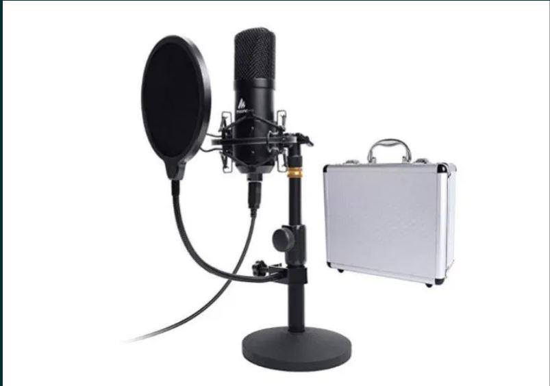 Профессиональный Студийный USB микрофон Maono AU-A04ТС  видеообзор