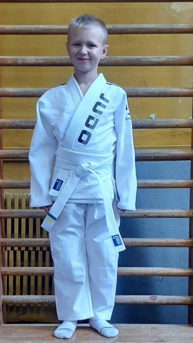 Кимоно для Дзюдо детское белое с поясом