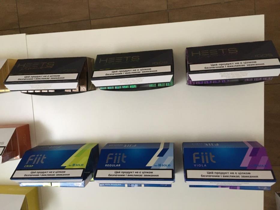 Продам оптом а также поблочно табачные стики с украинским акцизом HEETS 12вкусов и Fiit 3 вкуса
