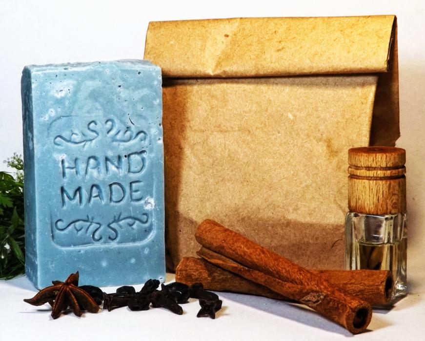 Натуральное мыло ручной работы Голубая глина морская соль