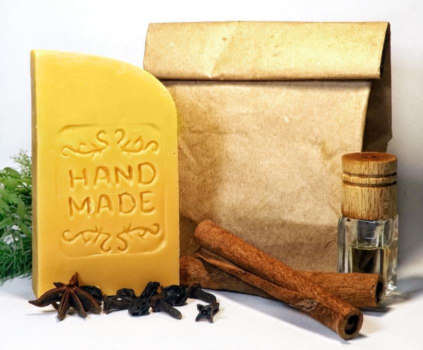 Натуральное мыло ручной работы С эфирным маслом горького апельсина