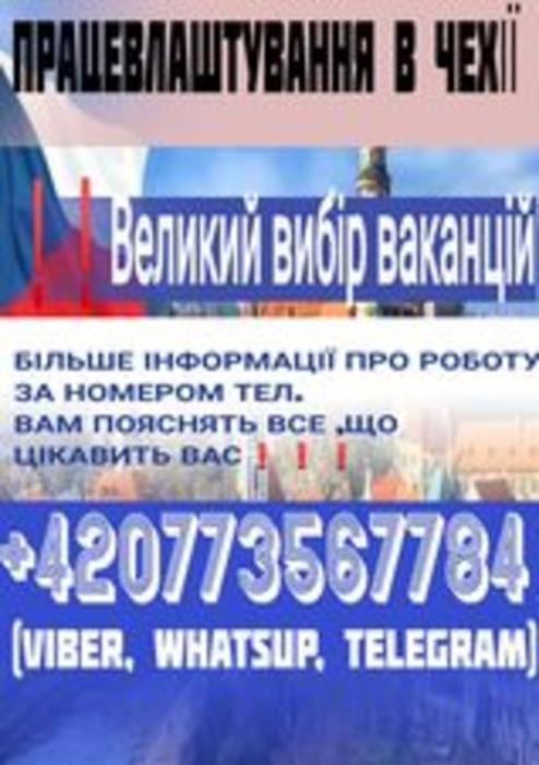 Работа в Чехии много вакансий