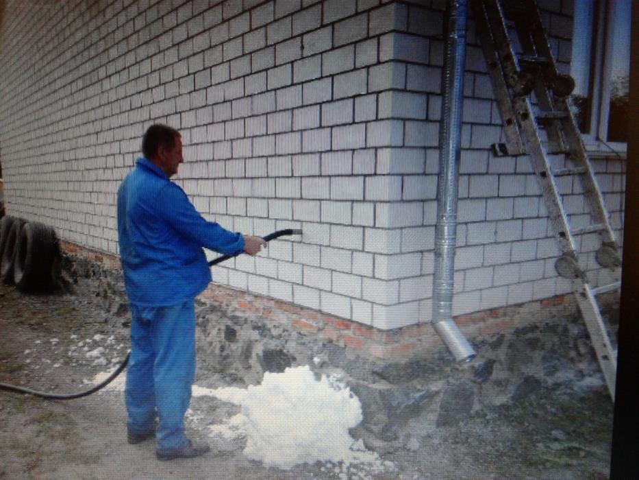 Утепление  стен домов  экоизолом-Пеноизол