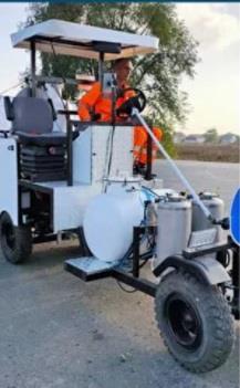 Машина розмічальна для нанесення холодного пластику та фарбою - Road marking SA