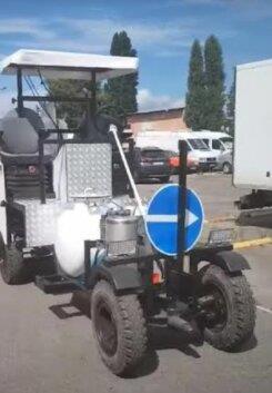 Машина розмічальна для нанесення холодного пластику та фарбою Road marking SA